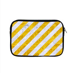 Stripes3 White Marble & Yellow Marble (r) Apple Macbook Pro 15  Zipper Case by trendistuff