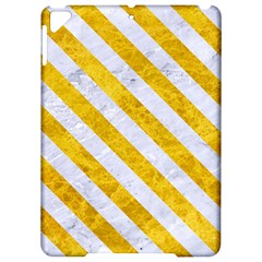 Stripes3 White Marble & Yellow Marble Apple Ipad Pro 9 7   Hardshell Case by trendistuff