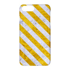 Stripes3 White Marble & Yellow Marble Apple Iphone 8 Plus Hardshell Case by trendistuff