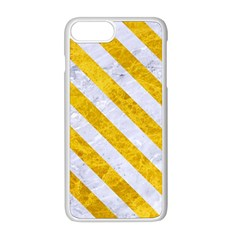 Stripes3 White Marble & Yellow Marble Apple Iphone 8 Plus Seamless Case (white) by trendistuff