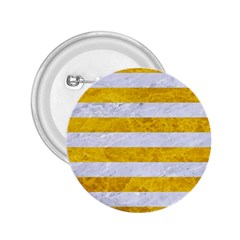 Stripes2white Marble & Yellow Marble 2 25  Buttons by trendistuff