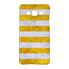 Stripes2white Marble & Yellow Marble Samsung Galaxy A5 Hardshell Case  by trendistuff