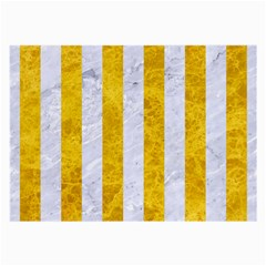 Stripes1 White Marble & Yellow Marble Large Glasses Cloth by trendistuff