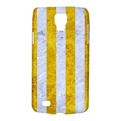 Stripes1 White Marble & Yellow Marble Galaxy S4 Active