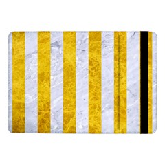 Stripes1 White Marble & Yellow Marble Samsung Galaxy Tab Pro 10 1  Flip Case by trendistuff