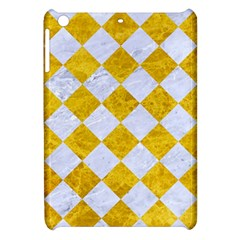 Square2 White Marble & Yellow Marble Apple Ipad Mini Hardshell Case by trendistuff