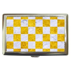 Square1 White Marble & Yellow Marble Cigarette Money Cases by trendistuff