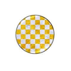 Square1 White Marble & Yellow Marble Hat Clip Ball Marker (10 Pack) by trendistuff