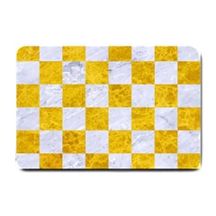 Square1 White Marble & Yellow Marble Small Doormat  by trendistuff