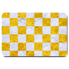 Square1 White Marble & Yellow Marble Large Doormat  by trendistuff