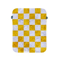 Square1 White Marble & Yellow Marble Apple Ipad 2/3/4 Protective Soft Cases by trendistuff