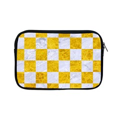 Square1 White Marble & Yellow Marble Apple Ipad Mini Zipper Cases by trendistuff