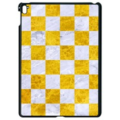 Square1 White Marble & Yellow Marble Apple Ipad Pro 9 7   Black Seamless Case by trendistuff