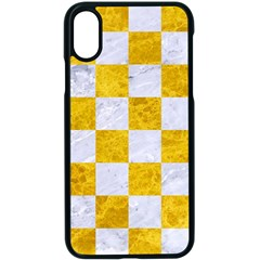 Square1 White Marble & Yellow Marble Apple Iphone X Seamless Case (black)