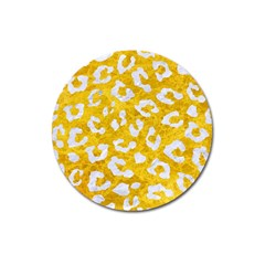 Skin5 White Marble & Yellow Marble (r) Magnet 3  (round) by trendistuff