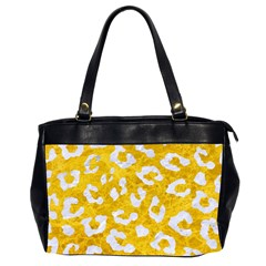 Skin5 White Marble & Yellow Marble (r) Office Handbags (2 Sides)  by trendistuff
