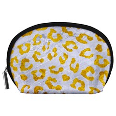 Skin5 White Marble & Yellow Marble Accessory Pouches (large)  by trendistuff