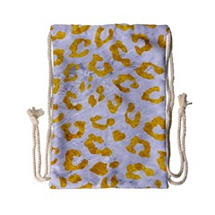Skin5 White Marble & Yellow Marble Drawstring Bag (small) by trendistuff