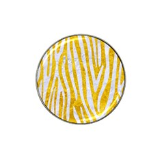 Skin4 White Marble & Yellow Marble (r) Hat Clip Ball Marker by trendistuff