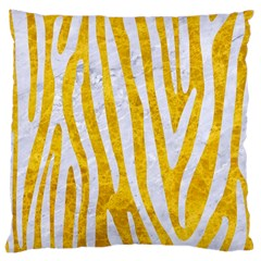Skin4 White Marble & Yellow Marble (r) Large Cushion Case (two Sides)