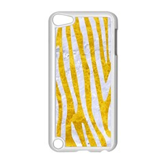 Skin4 White Marble & Yellow Marble (r) Apple Ipod Touch 5 Case (white) by trendistuff