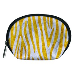 Skin4 White Marble & Yellow Marble Accessory Pouches (medium)  by trendistuff