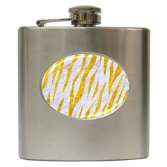 Skin3 White Marble & Yellow Marble (r) Hip Flask (6 Oz) by trendistuff