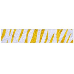 Skin3 White Marble & Yellow Marble (r) Large Flano Scarf  by trendistuff