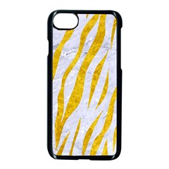 Skin3 White Marble & Yellow Marble (r) Apple Iphone 7 Seamless Case (black) by trendistuff