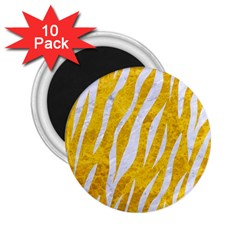 Skin3 White Marble & Yellow Marble 2 25  Magnets (10 Pack)  by trendistuff