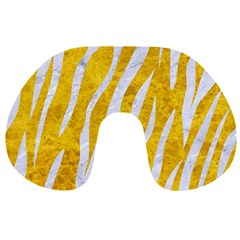 Skin3 White Marble & Yellow Marble Travel Neck Pillows