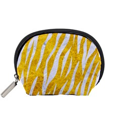 Skin3 White Marble & Yellow Marble Accessory Pouches (small)  by trendistuff