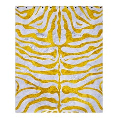 Skin2 White Marble & Yellow Marble (r) Shower Curtain 60  X 72  (medium)  by trendistuff