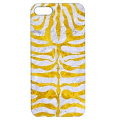Skin2 White Marble & Yellow Marble (r) Apple Iphone 5 Hardshell Case With Stand by trendistuff