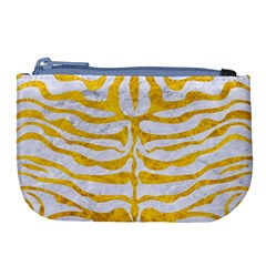 Skin2 White Marble & Yellow Marble (r) Large Coin Purse by trendistuff