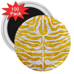 Skin2 White Marble & Yellow Marble 3  Magnets (100 Pack) by trendistuff