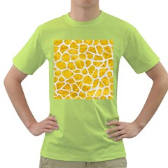 Skin1 White Marble & Yellow Marble (r) Green T Shirt by trendistuff