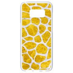 Skin1 White Marble & Yellow Marble (r) Samsung Galaxy S8 White Seamless Case by trendistuff