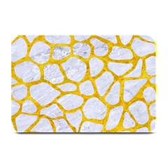 Skin1 White Marble & Yellow Marble Plate Mats by trendistuff