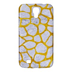 Skin1 White Marble & Yellow Marble Samsung Galaxy Mega 6 3  I9200 Hardshell Case by trendistuff
