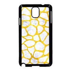 Skin1 White Marble & Yellow Marble Samsung Galaxy Note 3 Neo Hardshell Case (black) by trendistuff
