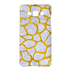 Skin1 White Marble & Yellow Marble Samsung Galaxy A5 Hardshell Case  by trendistuff