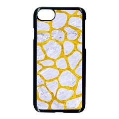 Skin1 White Marble & Yellow Marble Apple Iphone 8 Seamless Case (black)