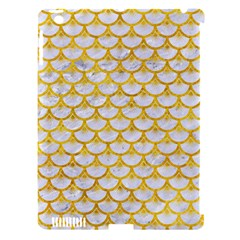 Scales3 White Marble & Yellow Marble (r) Apple Ipad 3/4 Hardshell Case (compatible With Smart Cover) by trendistuff