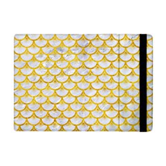 Scales3 White Marble & Yellow Marble (r) Apple Ipad Mini Flip Case by trendistuff