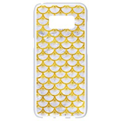 Scales3 White Marble & Yellow Marble (r) Samsung Galaxy S8 White Seamless Case by trendistuff