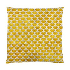 Scales3 White Marble & Yellow Marble Standard Cushion Case (one Side) by trendistuff