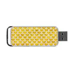 Scales3 White Marble & Yellow Marble Portable Usb Flash (two Sides) by trendistuff