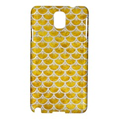 Scales3 White Marble & Yellow Marble Samsung Galaxy Note 3 N9005 Hardshell Case by trendistuff