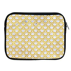 Scales2 White Marble & Yellow Marble (r) Apple Ipad 2/3/4 Zipper Cases by trendistuff
